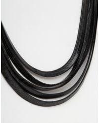 Oasis - Metallic Multi Chain Collar Necklace - Lyst