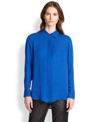 Vince Blue Silk Shirt