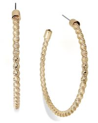 INC International Concepts - Metallic Inc International Concept Gold-tone Tight Twist Hoop Earrings - Lyst