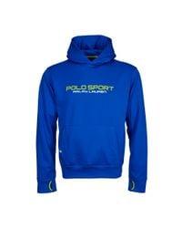 Ralph Lauren | Blue Tech Fleece Hoodie for Men | Lyst
