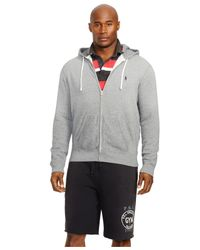 Polo Ralph Lauren | Gray Big And Tall Full-zip Fleece Hoodie for Men | Lyst