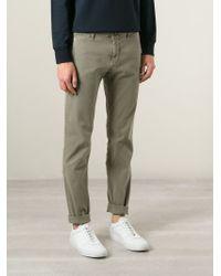 Stone Island | Green Straight Leg Trousers for Men | Lyst