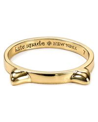 kate spade new york - Metallic Out Of The Bag Cat Ears Ring - Lyst