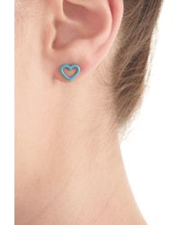 Marc By Marc Jacobs | Heart Earrings - Blue | Lyst
