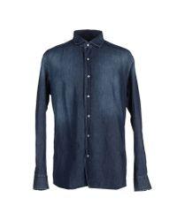 Baldessarini - Blue Denim Shirt for Men - Lyst