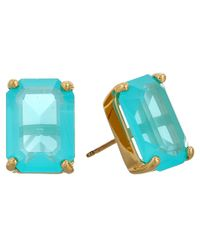 kate spade new york | Blue Kate Spade Emerald Cut Stud Earrings | Lyst