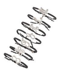 Tai Black Pave Initial Bracelet