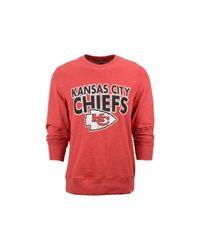 47 Brand Red Men's Kansas City Chiefs Graphic Sweatshirt for men