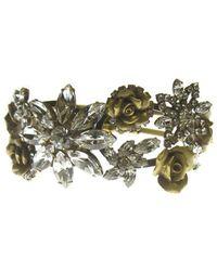 Elizabeth Cole | Metallic Rhoda Bracelet, Gold | Lyst