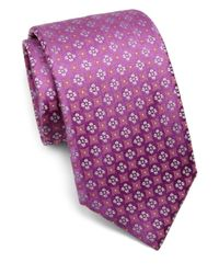 Charvet - Purple Small Pattern Silk Tie for Men - Lyst