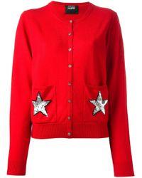 Markus Lupfer Red Star Embellished Cardigan