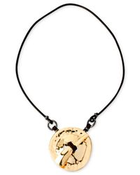 Robert Lee Morris - Metallic Gold-Tone Circle Pendant Necklace - Lyst