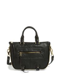 She + Lo | Black 'mini Rise Above' Leather Satchel | Lyst