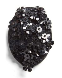 Simone Rocha | Black Floral Beaded Brooch | Lyst