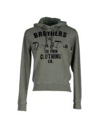 DSquared² - Green Sweatshirt for Men - Lyst