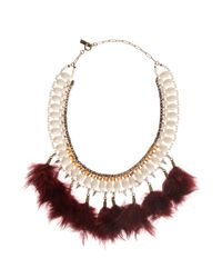 Étoile Isabel Marant | Red Short Feather Necklace | Lyst