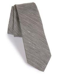 Rag & Bone | Black Woven Silk & Linen Stripe Tie for Men | Lyst