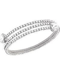 Swarovski | Metallic Twisty Bangle Triangle | Lyst