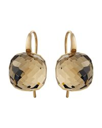 Swarovski | Metallic Dot Pierced Earrings | Lyst