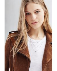 Urban Outfitters | Metallic 3 Charms Layering Necklace | Lyst