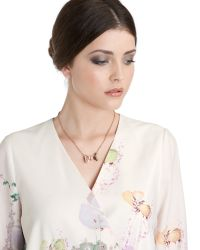 Ted Baker Pink Bow Detail Necklace