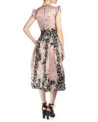Erdem - Pink Haleigh Floral-print Silk Gazar Dress - Lyst