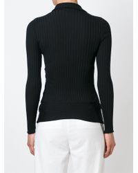 Stella McCartney - Black Refined Ribs Turtleneck Sweater - Lyst