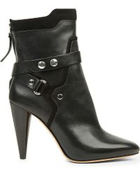 Isabel Marant Black Redford Leather Ankle Boots