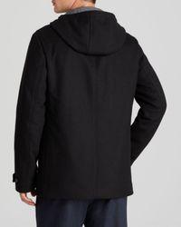 Vince Black Melton Toggle Coat for men