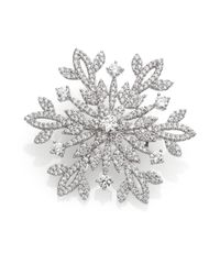 Adriana Orsini | Metallic Pave Sterling Silver Snowflake Pin | Lyst