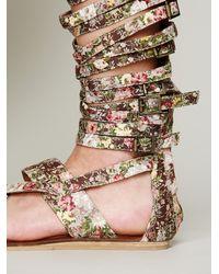 Jeffrey Campbell - Multicolor Romana Floral Sandal - Lyst