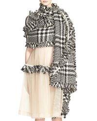 Simone Rocha Black Embellished Wool-blend Scarf