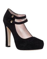 kate spade new york | Nara Black Suede Platform Heel | Lyst