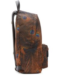 Givenchy - Brown Multicolor Feather Print Backpack - Lyst