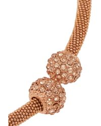 Kenneth Jay Lane Metallic Rose Gold-plated Crystal Necklace