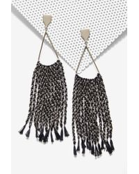 Nasty Gal | Black Lena Bernard Jackie Earrings | Lyst