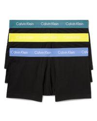 Calvin Klein | Black Low Rise Trunks, Pack Of 3 for Men | Lyst