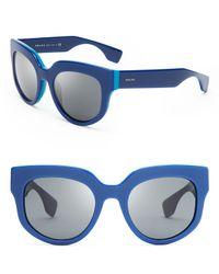 Prada - Blue Oversized Sunglasses - Lyst