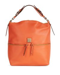Dooney & Bourke | Orange Seville Leather Hobo Bag | Lyst