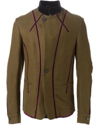 Haider Ackermann - Green Military Style Piped Coat for Men - Lyst