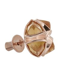 Katie Rowland Pink Salome Rose Gold-Tone Earrings