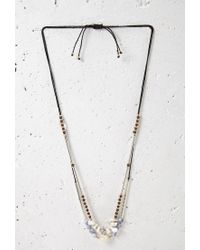 Forever 21 | Black Layered Faux Stone Necklace | Lyst