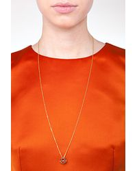 Noor Fares - Metallic 18k Gold Dodecohedron Pendant Necklace With White Diamonds - Lyst
