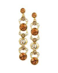 Givenchy - Metallic 10k Goldplated Swarovski Crystal Linear Drop Earrings - Lyst