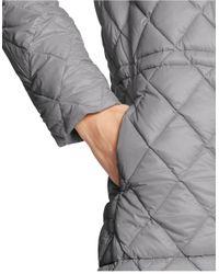 Lauren by Ralph Lauren | Gray Quilted Nylon Down Jacket | Lyst