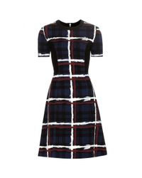 Marc By Marc Jacobs - Blue Chalky Tartan Printed Dress - Lyst