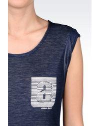 Armani Jeans - Blue Jersey T-shirt - Lyst