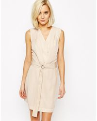Vero Moda - Natural D-ring Belted Wrap Dress - Lyst
