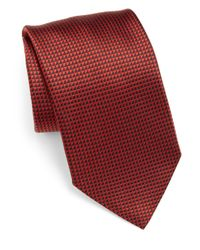 Armani | Red Patterned Silk Tie for Men | Lyst