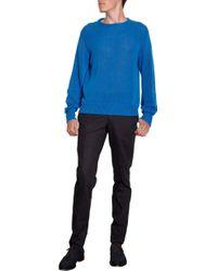 E. Tautz - Blue Crewneck Pullover for Men - Lyst